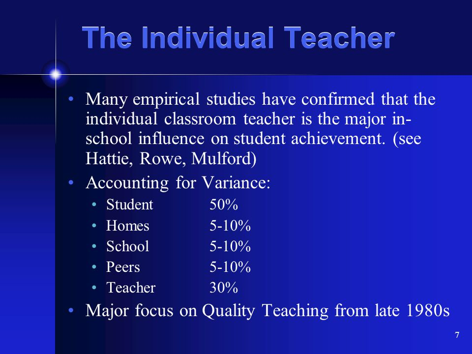 The Individual Teacher