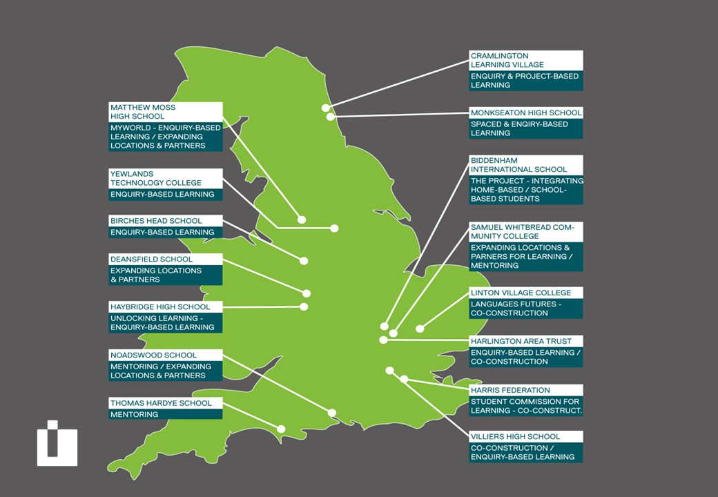 Learning Futures worked with about forty schools on 15 sites across England.