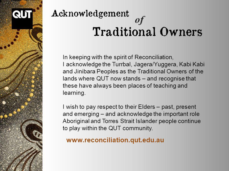 of www.reconciliation.qut.edu.au