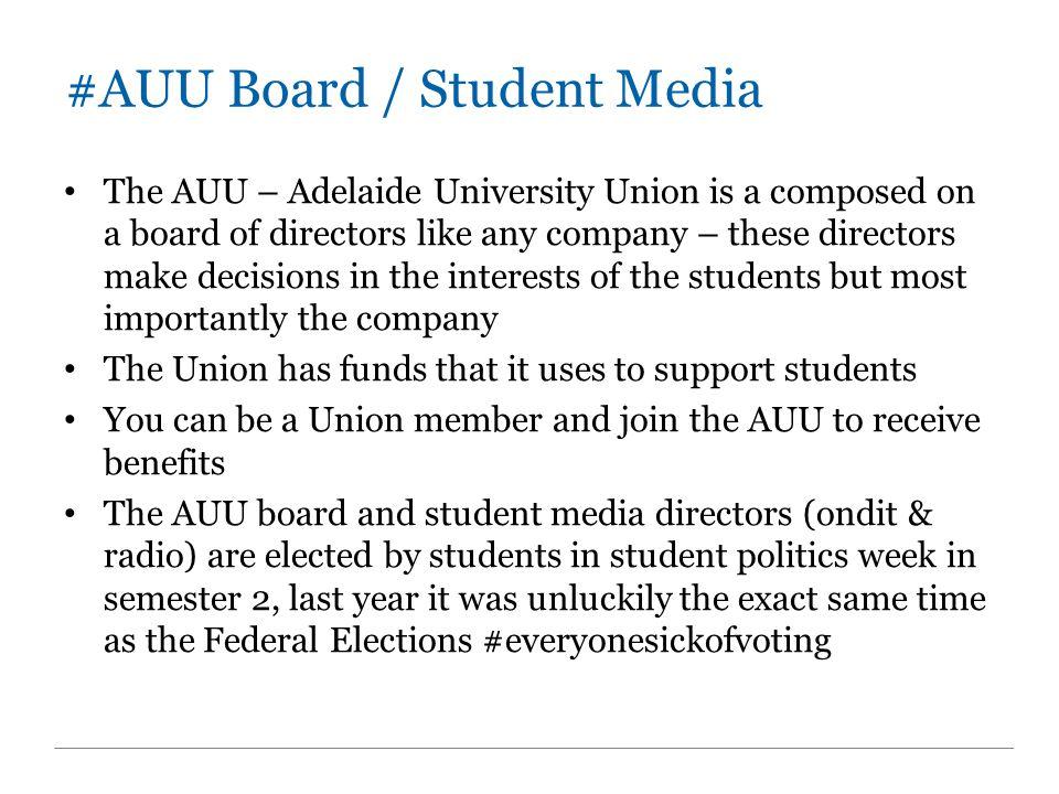 #AUU Board / Student Media