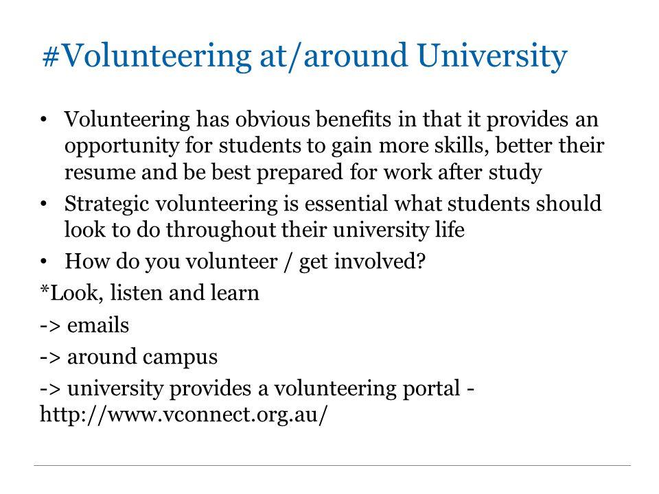 #Volunteering at/around University