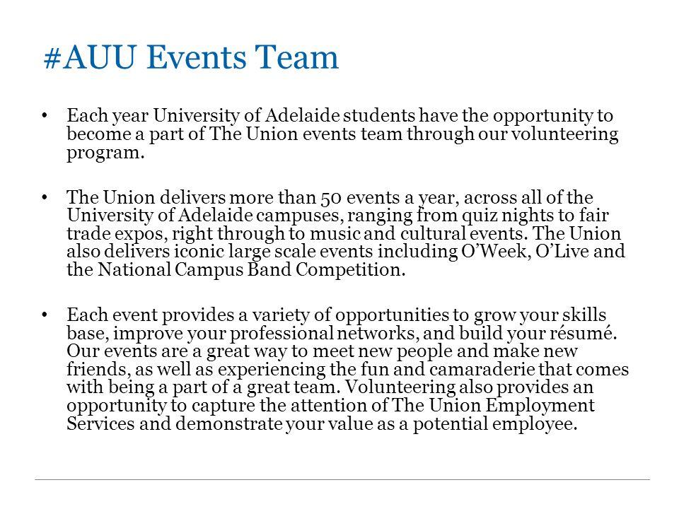 #AUU Events Team