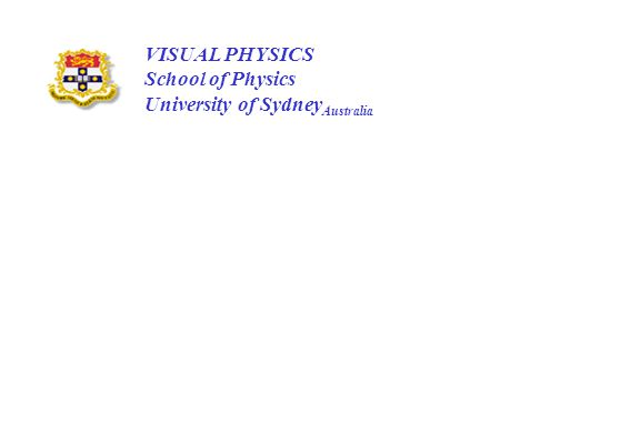 VISUAL PHYSICS School of Physics University of SydneyAustralia
