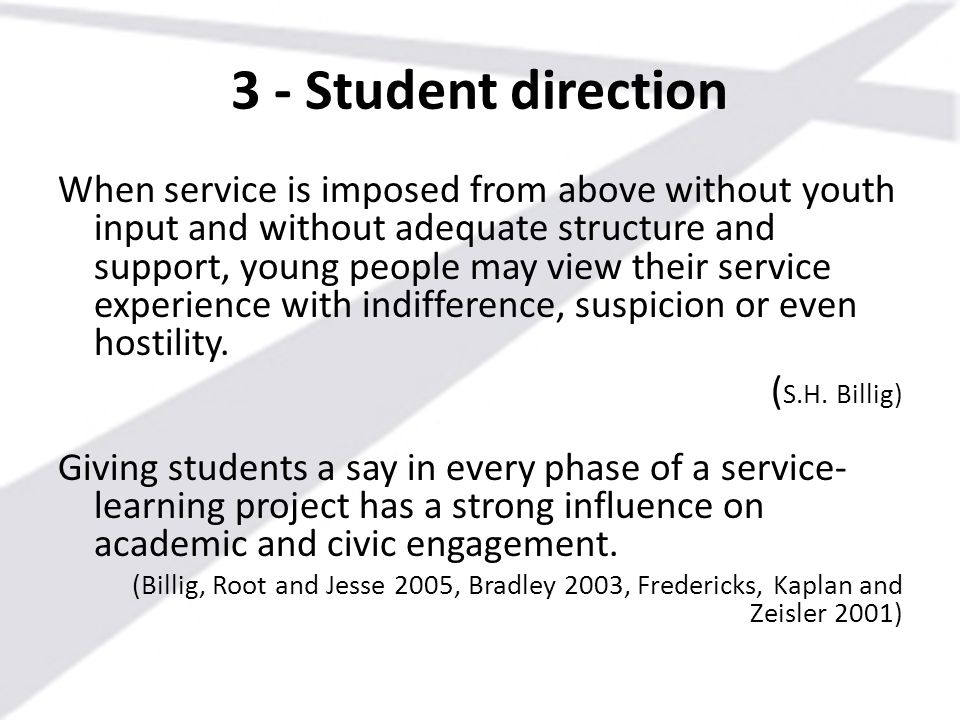 3 - Student direction