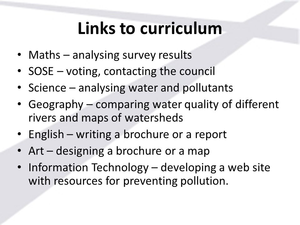 Links to curriculum Maths – analysing survey results