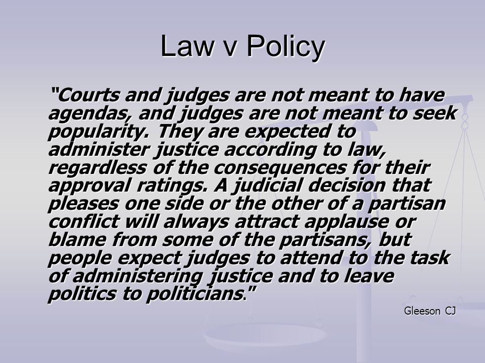 Law v Policy