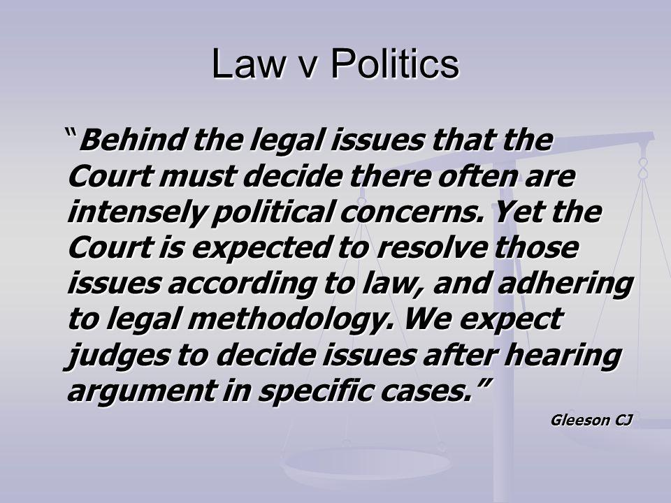 Law v Politics