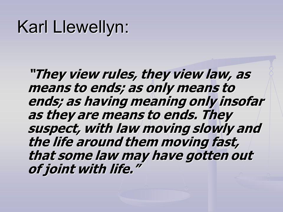 Karl Llewellyn: