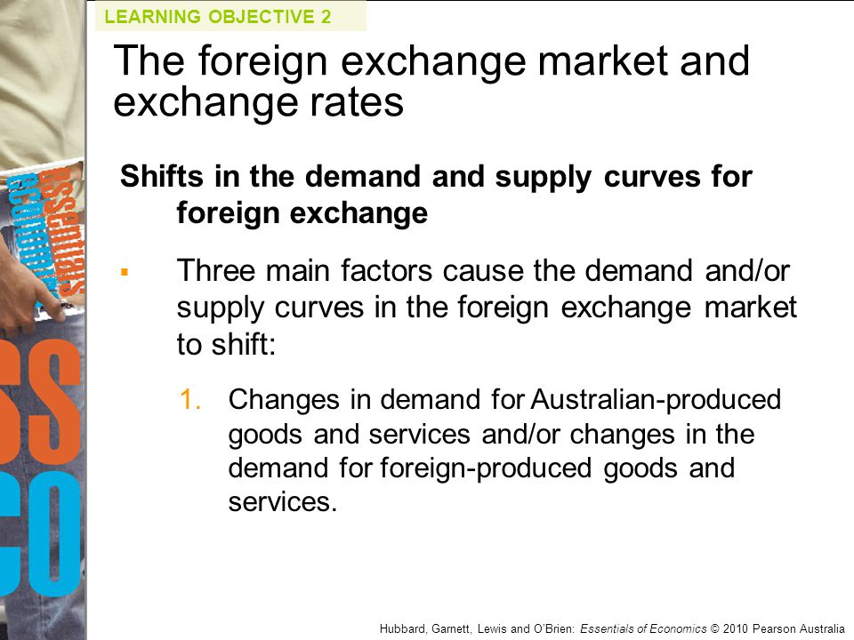 The foreign exchange market and exchange rates