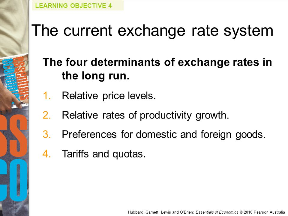The current exchange rate system