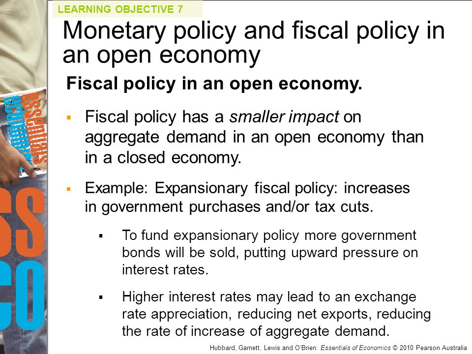 Monetary policy and fiscal policy in an open economy