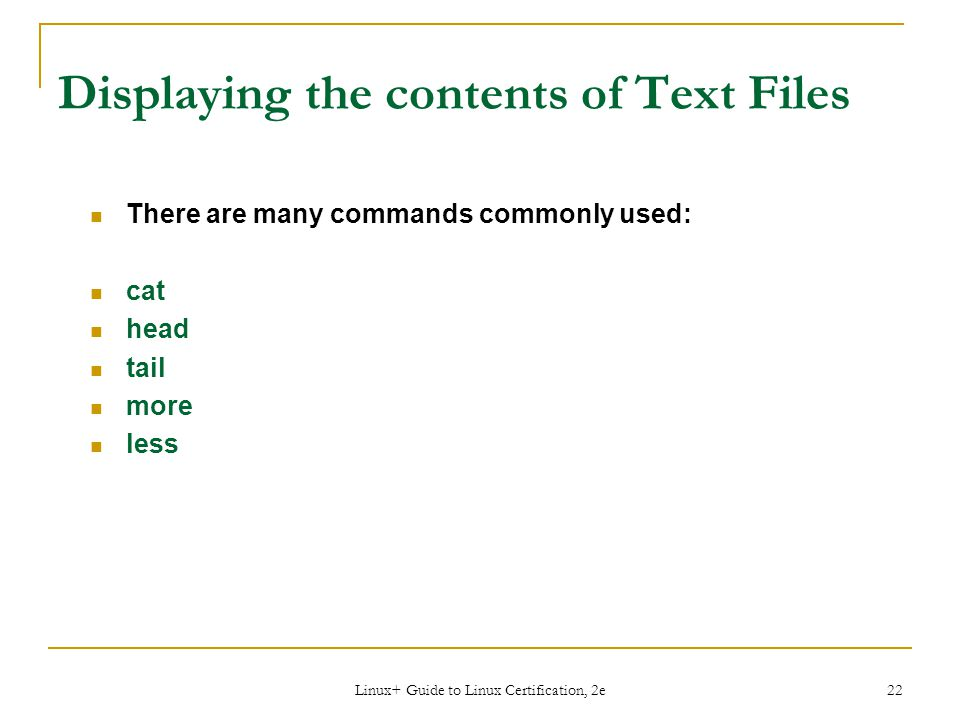 Displaying the contents of Text Files