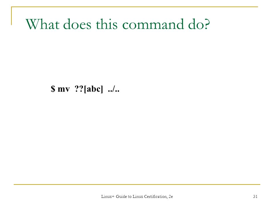What does this command do