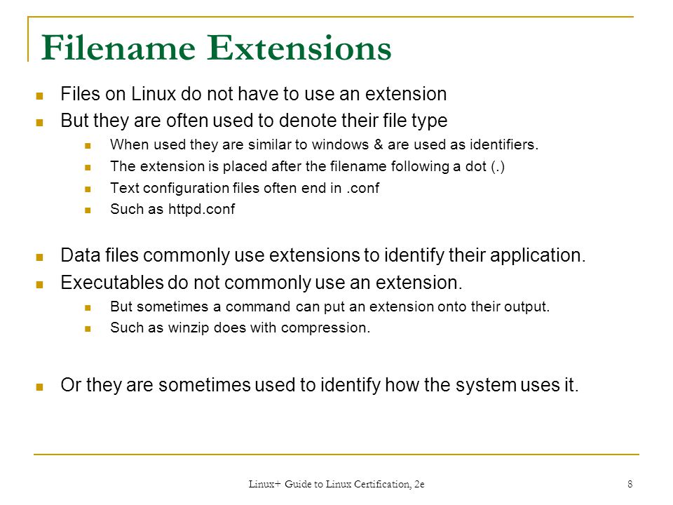 Linux+ Guide to Linux Certification, 2e
