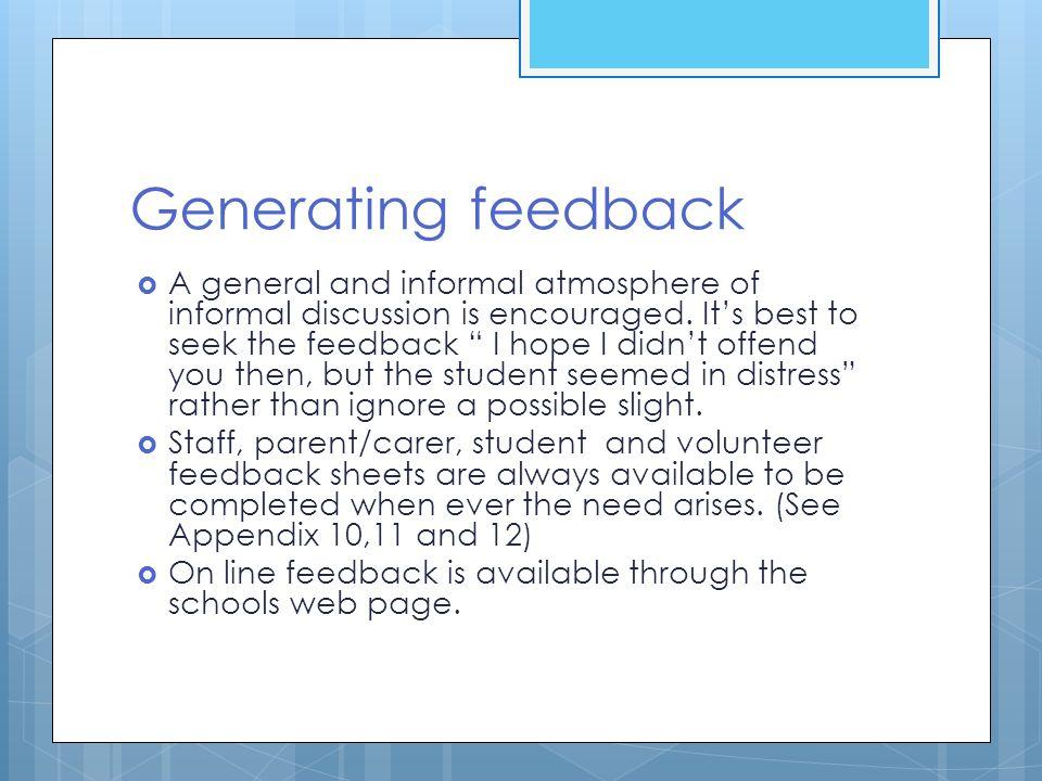 Generating feedback