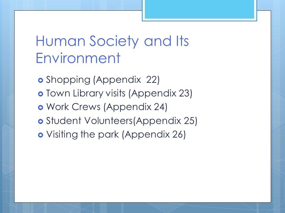 Human Society and Its Environment