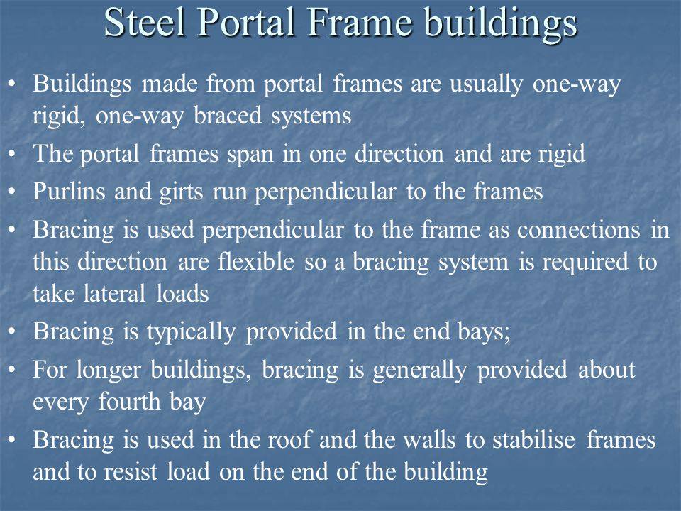 Steel Portal Frame buildings