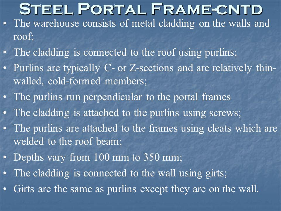 Steel Portal Frame-cntd