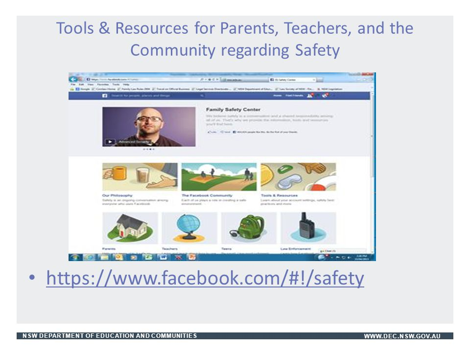 Tools & Resources for Parents, Teachers, and the Community regarding Safety