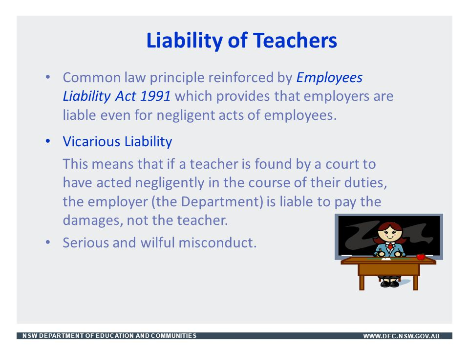Liability of Teachers