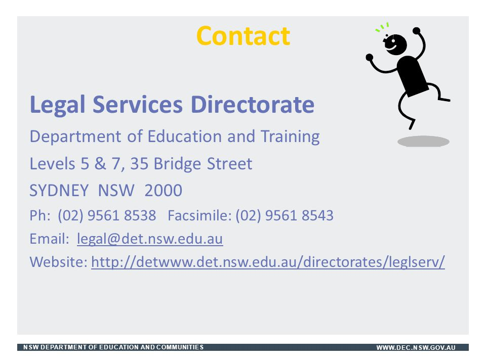 Contact Legal Services Directorate