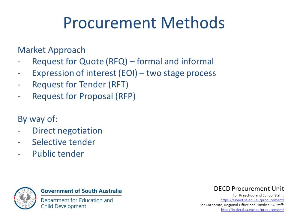 Procurement Methods Market Approach