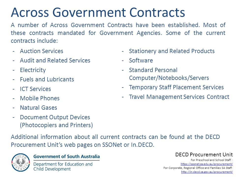 Across Government Contracts