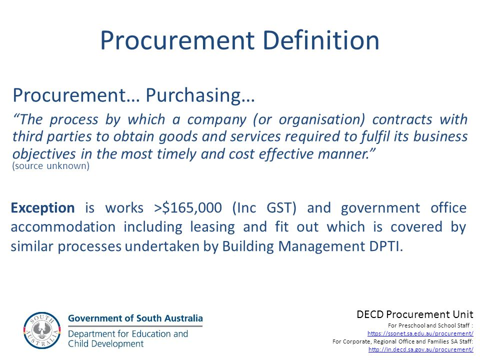 Procurement Definition