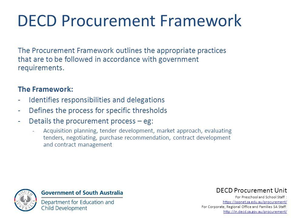 DECD Procurement Framework