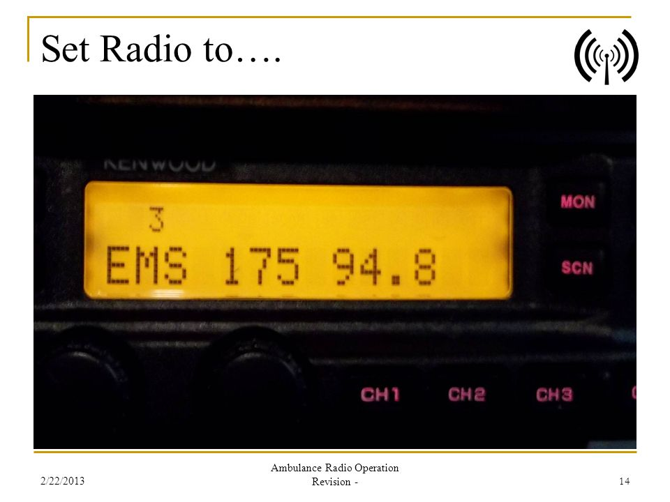 Ambulance Radio Operation