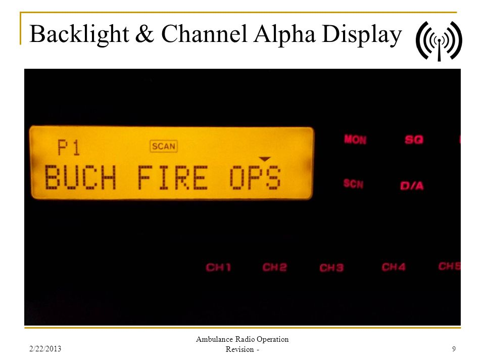 Backlight & Channel Alpha Display