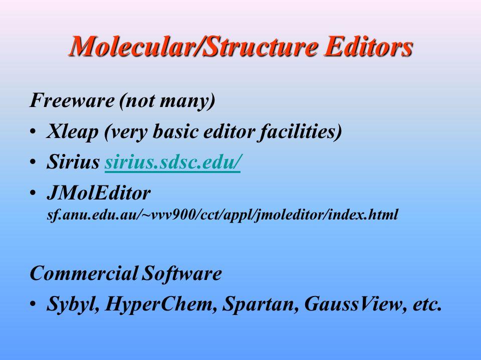 Molecular/Structure Editors