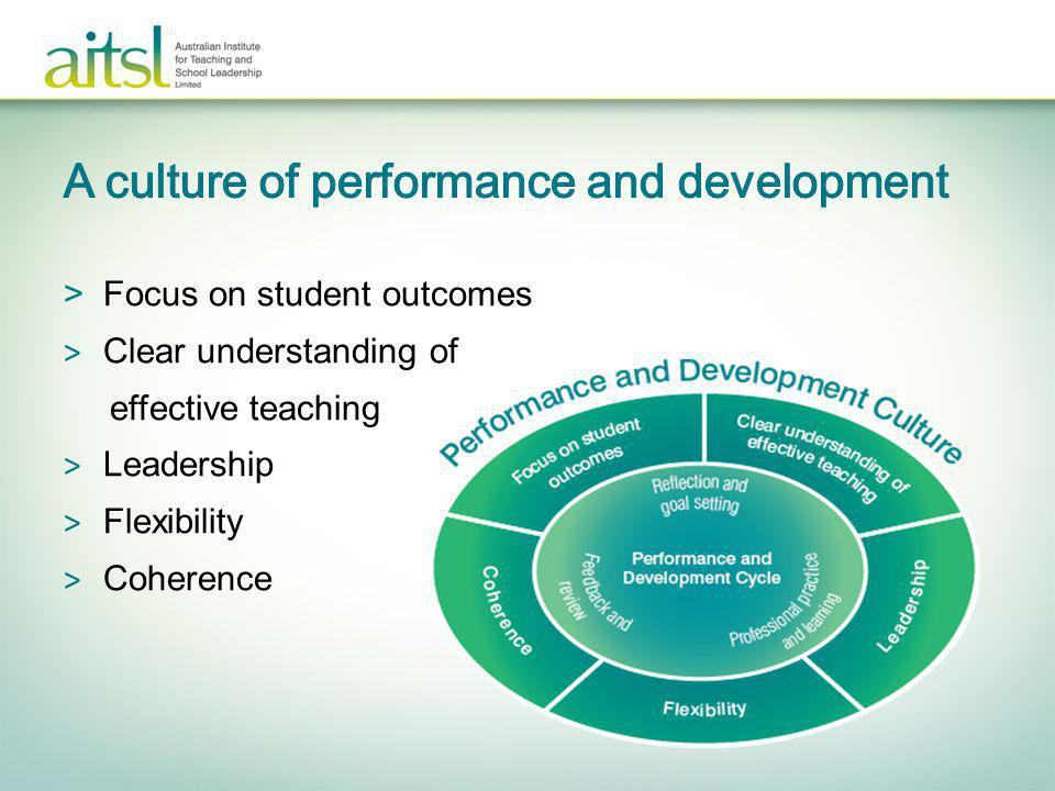 A culture of performance and development