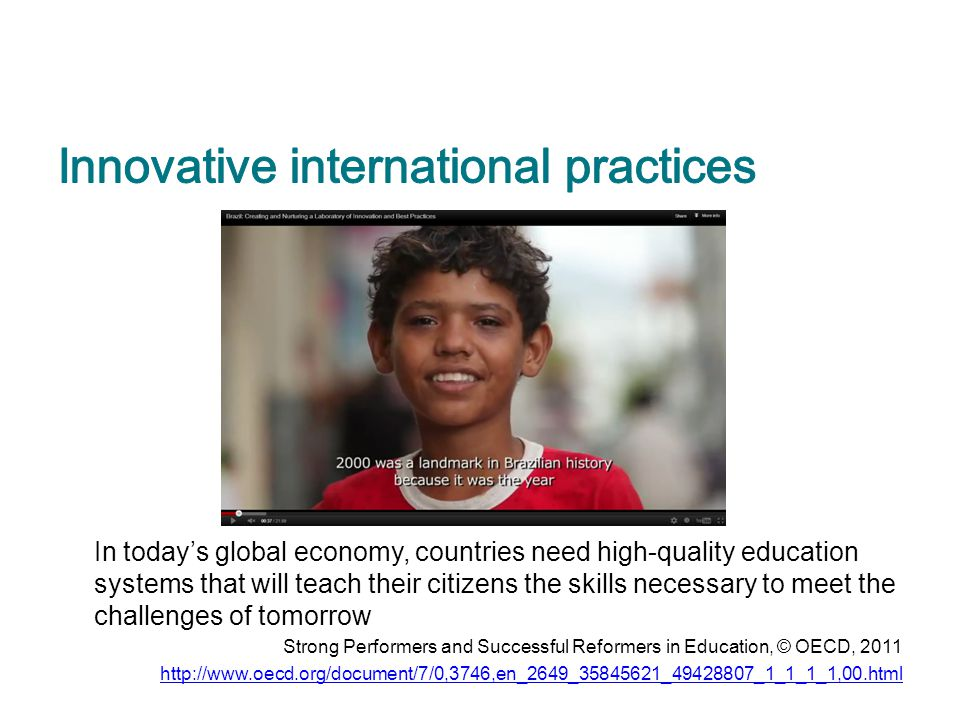 Innovative international practices