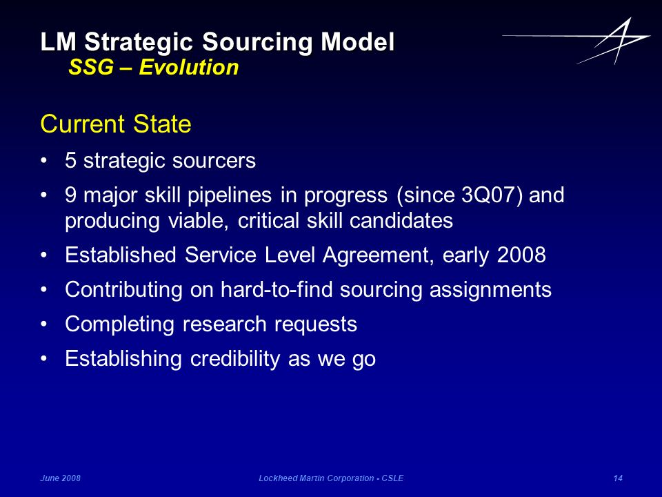 LM Strategic Sourcing Model