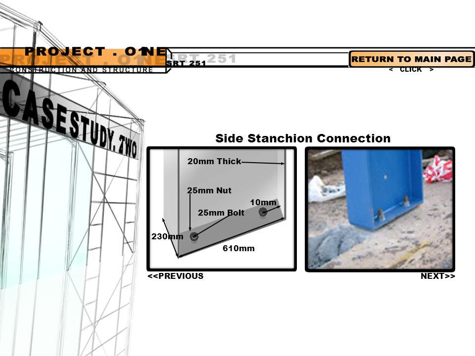 Side Stanchion Connection