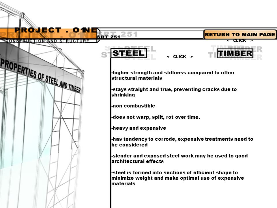 -higher strength and stiffness compared to other structural materials