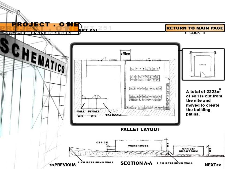 PALLET LAYOUT SECTION A-A
