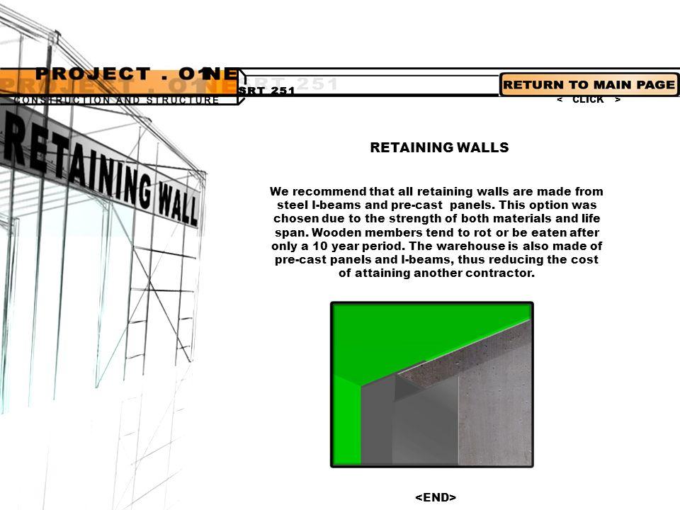 < CLICK > RETAINING WALLS.