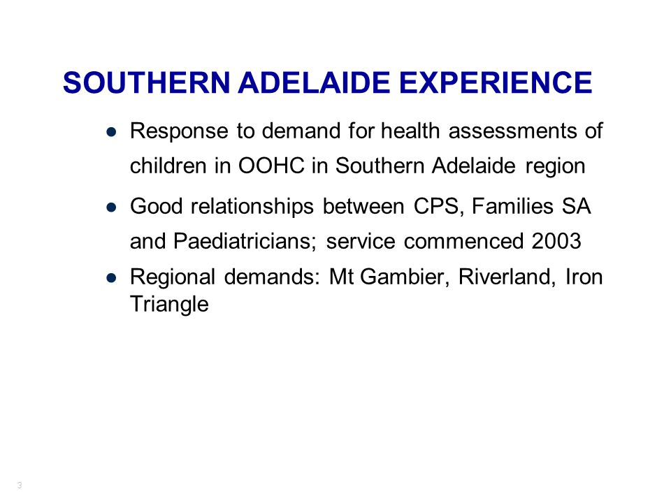 SOUTHERN ADELAIDE EXPERIENCE