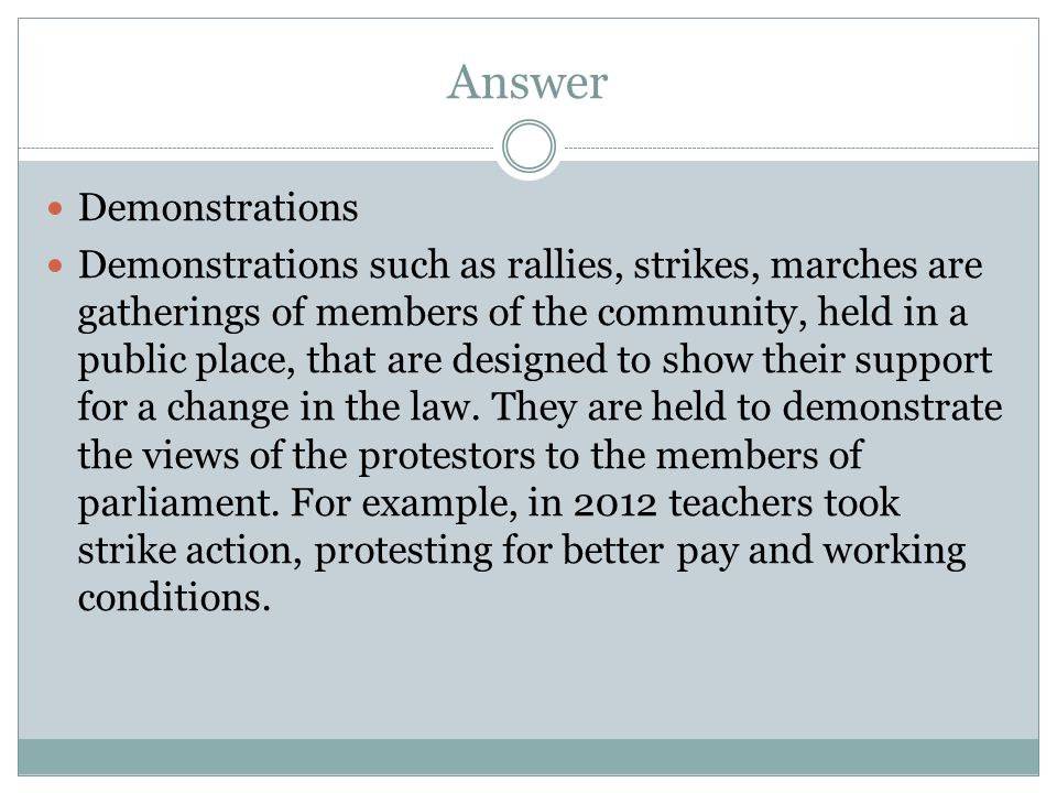 Answer Demonstrations