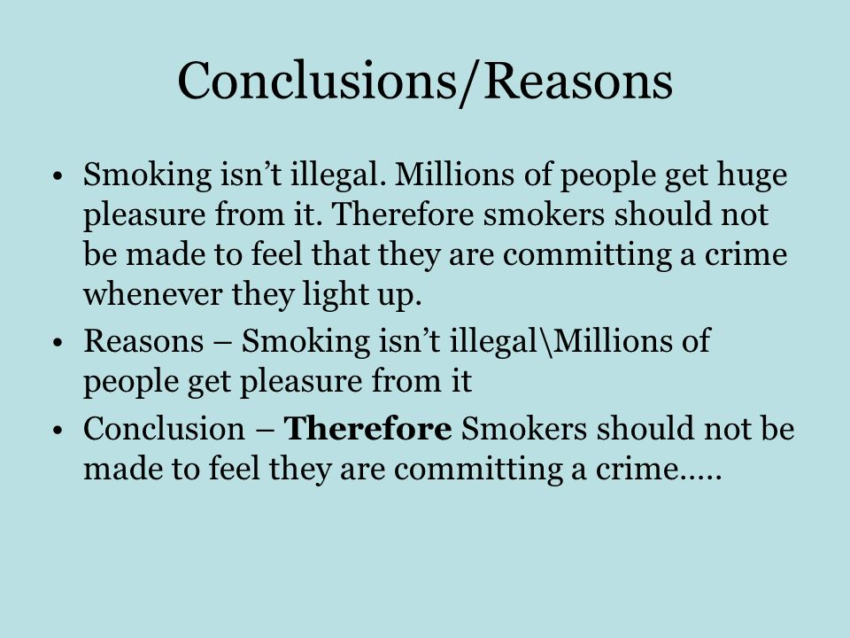 Conclusions/Reasons