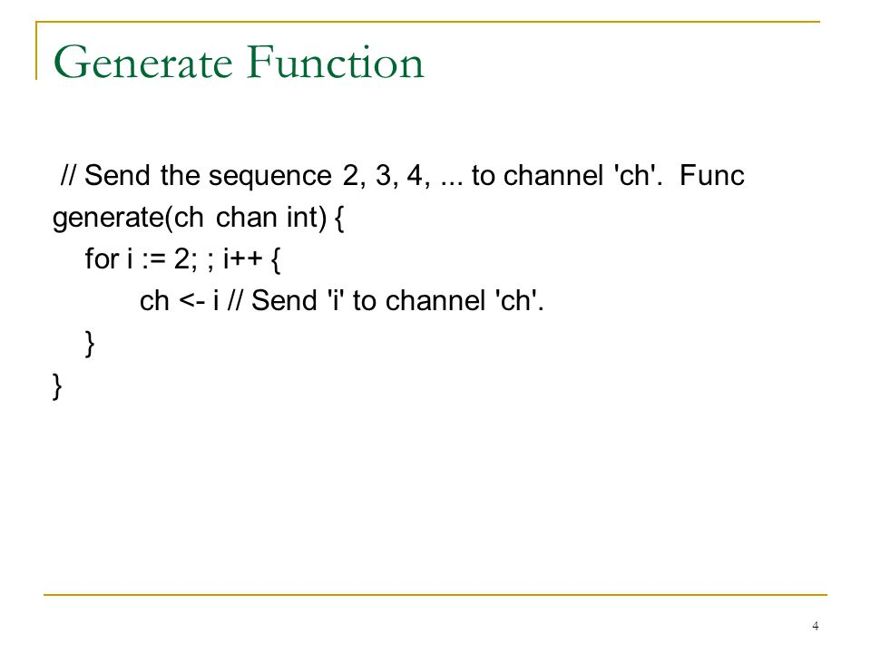 Generate Function