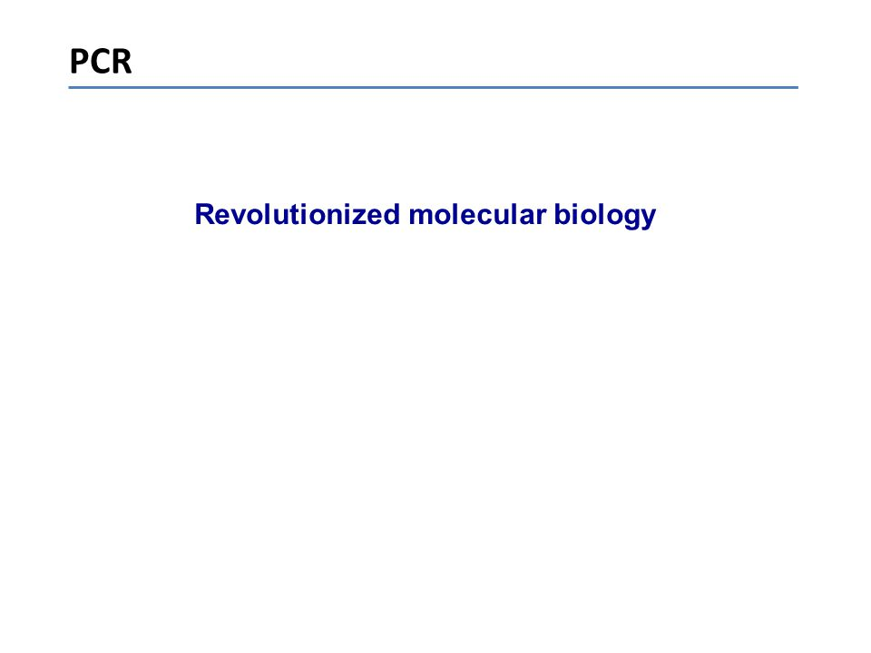 Revolutionized molecular biology