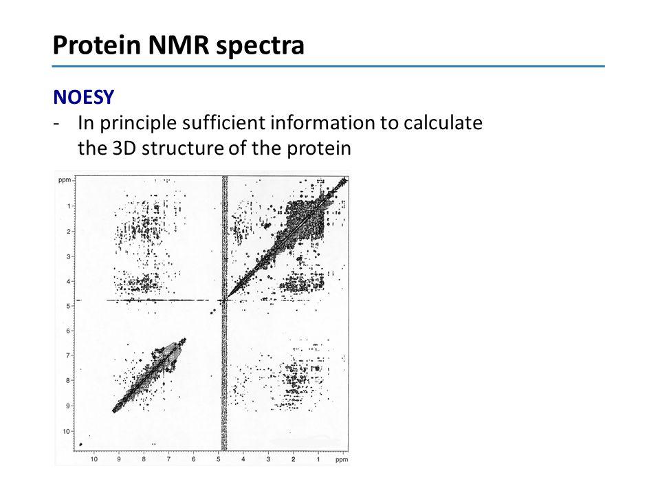 Protein NMR spectra NOESY