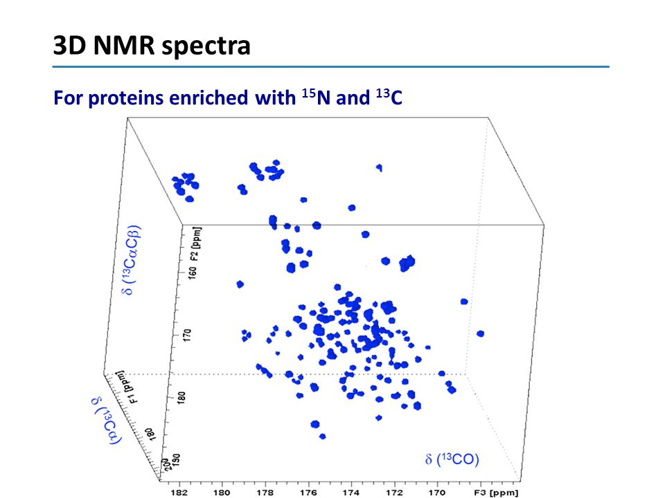 3D NMR spectra For proteins enriched with 15N and 13C