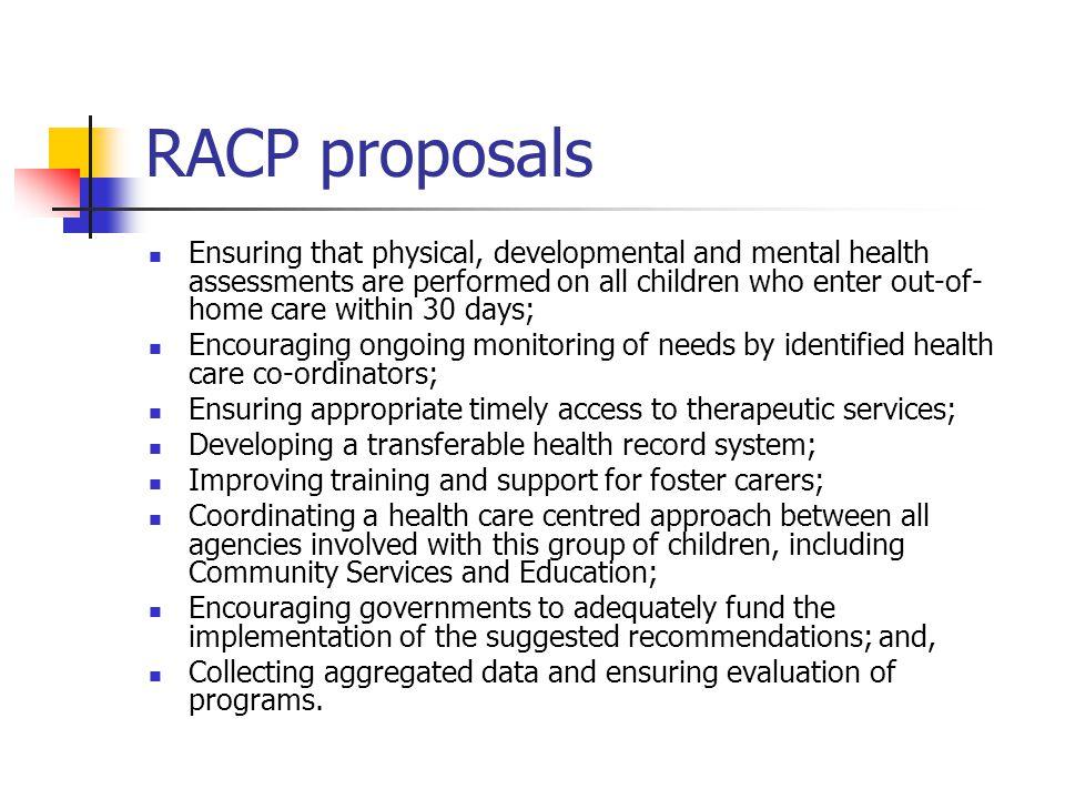 RACP proposals