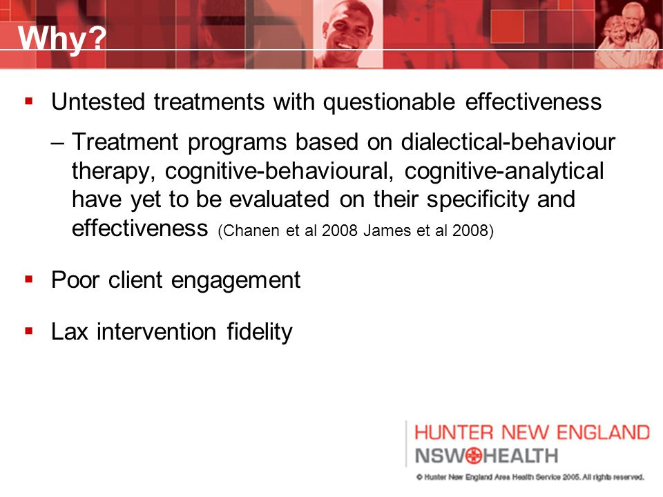 Why Untested treatments with questionable effectiveness