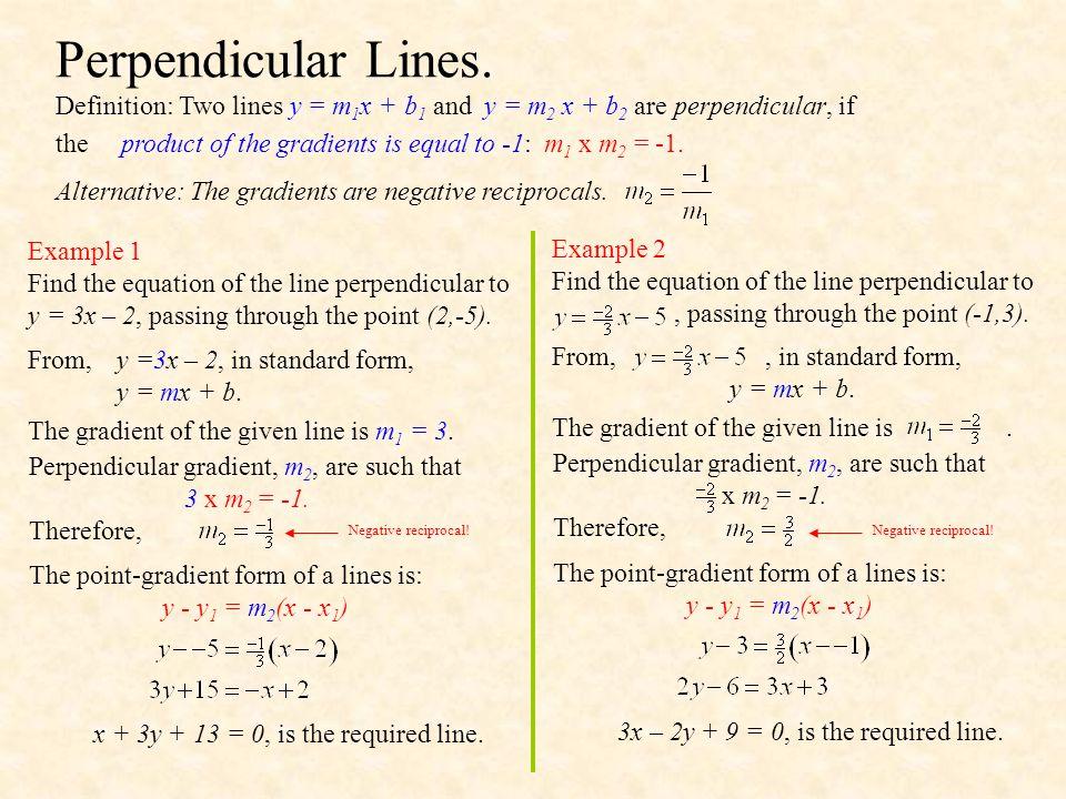 Perpendicular Lines.