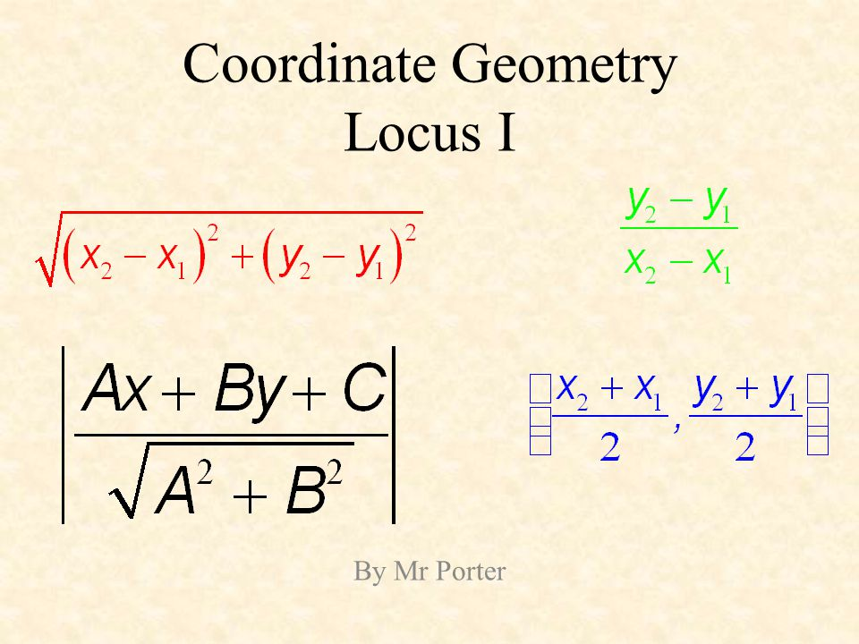 Coordinate Geometry Locus I